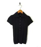 ビドンナ B donna ポロシャツ ニット カットソー リブ 半袖 黒 ブラック