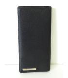 カルティエ Cartier 財布 長財布 サントス レザー ロゴ 黒 ブラック シルバー金具 本革 ウォレット