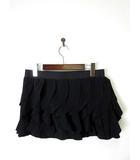オピュール Oppure スカート パンツ スカパン フリル ミニ M 黒 ブラック