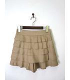 アナトリエ ANATELIER スカート パンツ キュロット ティアード段フリル S ベージュ