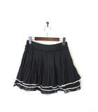 ダイアグラム グレースコンチネンタル Diagram GRACE CONTINENTAL スカート ミニ シフォン 段プリーツ S 黒 ブラック 美品