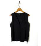 エイチ&エム H&M シャツ ブラウス キーネック ノースリーブ XS 黒 ブラック