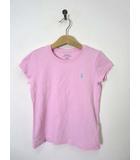 ポロ ラルフローレン POLO RALPH LAUREN Tシャツ ポニー刺繍 半袖 S 120 ピンク 国内正規品