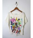 シュカ Shuca アトリエエレマンプレザン Atelier Element Present コラボ Tシャツ カットソー プリント オーガニックコットン 半袖 S オフ白