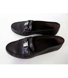 サルヴァトーレフェラガモ Salvatore Ferragamo ローファー スリッポン 革靴 ヴァラ 本革 リザード 型押し レザー 6.5 EE ダークブラウン こげ茶色 シルバー 金具 くつ 靴 ビジネス シューズ 小さいサイズ