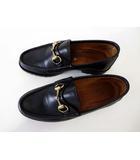 グッチ GUCCI ローファー ビットローファー スリッポン 革靴 ビジネスシューズ 本革 レザー 39.5 E 黒 ブラック 靴 くつ 紳士 シューズ ゴムソール 小さいサイズ