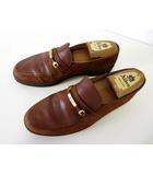 バリー BALLY ローファー スリッポン 革靴 ビジネスシューズ スエード 6.5 茶色 ブラウン 紳士 くつ 靴 シューズ 小さいサイズ