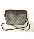 グッチ GUCCI バッグ ショルダーバッグ オールドグッチ PVC レザー グレー ブラウン かばん 鞄