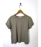 グリーンレーベルリラクシング ユナイテッドアローズ green label relaxing Tシャツ カットソー コットン レーヨン 半袖 カーキ