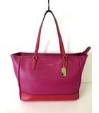 コーチ COACH バッグ トートバッグ レザー 23884 サフィアーノ カラーブロック ミディアム  赤 レッド 牛革 かばん 鞄 カバン