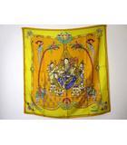 エルメス HERMES スカーフ カレ 90 ショール India 黄色 イエロー ブランド 小物