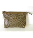 バリー BALLY バッグ セカンドバッグ クラッチバッグ ロゴ 総柄 PVC ベージュ ブラウン かばん 鞄