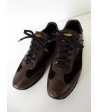 ルイヴィトン LOUIS VUITTON スニーカー シューズ モノグラム 本革 レザー スエード 7 ダークブラウン こげ茶色 26.0cm 革靴 くつ 靴