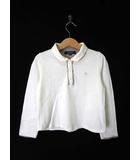 バーバリー BURBERRY カットソー シャツ 襟付き ノバチェック柄 ホース刺繍 コットン 長袖 120 白 国内正規品