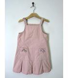 バーバリー BURBERRY ワンピース ジャンパースカート サロペット ノバチェック柄 裾ボックスプリーツ 120 ピンク 国内正規品