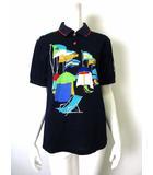 レオナールスポーツ LEONARD SPORT ポロシャツ 半袖 鹿の子 ロゴ 刺繍 L 紺 ネイビー 赤 水色 黄緑 ブルー 国内正規品