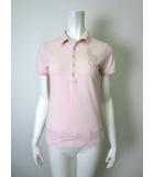 ラルフローレン RALPH LAUREN ポロシャツ ビッグ ポニー ビーズ装飾 鹿の子 コットン 半袖 M ピンク 国内正規品