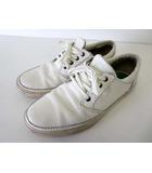 on sale 5d75b 92c6c クラークス clarks スニーカー レザー シューズ 靴 くつ 26.5 オフ白