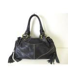 フランチェスコビアジア FRANCESCO BIASIA バッグ ショルダー ハンドバッグ レザー タッセル フリンジ 黒 ブラック 牛革 かばん 鞄 カバン