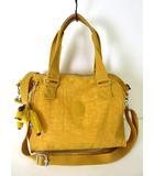 キプリング KIPLING バッグ 2WAY ショルダーバッグ ミニ ボストンバッグ ナイロン ロゴ 黄 かばん 鞄 カバン