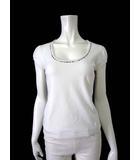 バーバリー BURBERRY Tシャツ カットソー パフスリーブ 半袖 ノバチェック ロゴ 刺繍 ストレッチ S 白 ホワイト