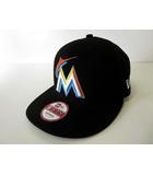 ニューエラ NEW ERA マイアミ マーリンズ Miami Marlins MLB キャップ 帽子 ベースボールキャップ 野球帽 S-M 黒 ブラック オレンジ ボウシ