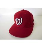 ニューエラ NEW ERA オーセンティック 59FIFTY ワシントン ナショナルズ WASHINGTON NATIONALS キャップ 帽子 ベースボールキャップ 野球帽 S-M 赤 レッド 白 ロゴ 刺繍 メジャーリーグ