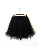 ダブルスタンダードクロージング ダブスタ DOUBLE STANDARD CLOTHING スカート チュール プリーツ フレア 黒 ブラック
