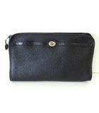 クリスチャンディオール Christian Dior バッグ セカンドバッグ クラッチバッグ レザー ロゴ 黒 ブラック かばん 鞄