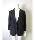 マーガレットハウエル MARGARET HOWELL ジャケット ブレザー シルク コットン 絹 7分袖 3 L チャコールグレー