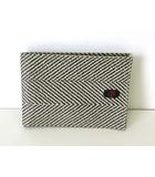 ナザレノガブリエリ nazareno gabrielli 財布 二つ折り PVC レザー ロゴ グレー 黒 札入れ ウォレット