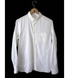 スティルバイハンド STILL BY HAND シャツ ボタンダウン カジュアルシャツ 長袖 シャドーチェック柄 48 白 ホワイト