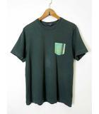 バーバリー BURBERRY Tシャツ カットソー 半袖 ポケット ノバチェック 160A グリーン 緑 国内正規品