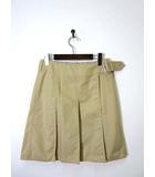 バーバリー BURBERRY スカート プリーツ 巻き ラップ ノバチェック柄 38 M ベージュ 国内正規品