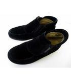 Ganter ガンター スリッポン シューズ 靴 コンフォートシューズ 本革 スエード レザー 21.0 黒 ブラック 小さいサイズ くつ