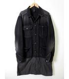 ミハラヤスヒロ MIHARA YASUHIRO コート デニム ドッキング ジャケット ヴィンテージ加工 46 黒 ブラック チャコールグレー 国内正規品
