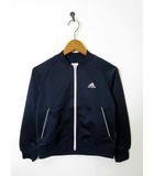 アディダス adidas ジャージ トラックジャケット CLIMALITE ロゴ 長袖 130 紺 ネイビー 国内正規品 女の子 スポーツウエア トレーニングウエア 美品