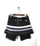 アディダス adidas スカート ショート タイツ スパッツ スカッツ CLIMACOOL OT XL 黒 ブラック 美品 国内正規品 スポーツウエア ランニング