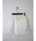 アディダス adidas スカート フレア CLIMALITE ライン ロゴ M オフ白 ジョギング テニス スポーツウエア トレーニングウエア 国内正規品