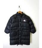 コンバース CONVERSE ダウン コート ジャケット ダウンコート ダウンジャケット フード ロゴ刺繍 ジップアップ 長袖 130 黒 ブラック
