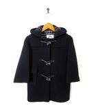 バーバリー BURBERRY コート ダッフルコート ウール 裏ノバチェック柄 長袖 104 紺 ネイビー
