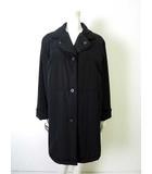 レリアン Leilian コート 中綿 ウール ライナー付き 長袖 9 M 黒 ブラック