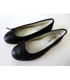 レペット Repetto バレエシューズ フラットシューズ 羊革 ラム レザー 37 黒 ブラック Noir くつ 靴 シューズ フランス製 国内正規品
