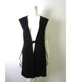 リミフゥ LIMI feu ベスト チュニック 羽織り コットン ノースリーブ S 黒 ブラック 美品