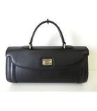 バーバリー BURBERRY バッグ ハンドバッグ レザー カーフ ホース ロゴ プレート 黒 ブラック 裏ノバチェック柄 牛革 かばん 鞄 カバン