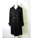 瀧定名古屋 コート トレンチコート ダブル キルティング 中綿 長袖 13 XL 黒 ブラック 美品