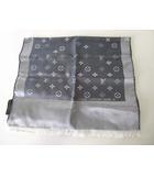 ルイヴィトン LOUIS VUITTON マフラー スカーフ モノグラム LV ロゴ 絹 シルク グレー シルバーグレー アイスグレー ブランド 小物