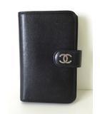 シャネル CHANEL 財布 二つ折り ラウンドファスナー レザー カーフ ココマーク 黒 ブラック 牛革 ウォレット