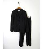 ペイトンプレイス PEYTON PLACE パンツ スーツ ウール 背抜き 上下セットアップ 9 M 黒 ブラック