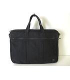 ポーター PORTER バッグ ブリーフケース ビジネスバッグ 拡張 キャンバス ロゴ 黒 ブラック かばん 鞄 カバン